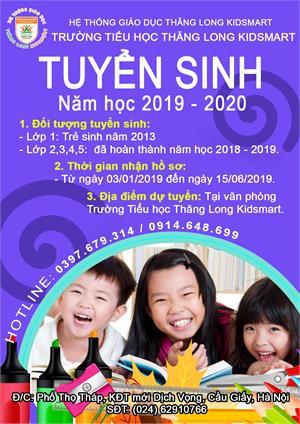 Tuyển sinh lớp 1,2,3,4,5 năm học 2019 - 2020